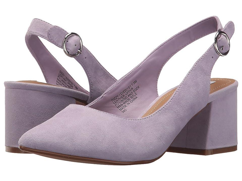 Steve Madden Dizzy Slingback Block Heeled Sandal (Lavender Suede) Women