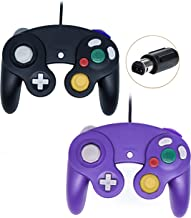 Wired Gamecube Controllers for Nintendo Wii Game Cube Switch Console (Black and Purple)
