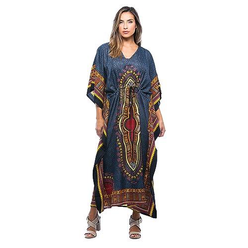 fd18f94bf92 Riviera Sun African Print Dashiki Maxi Caftan for Women