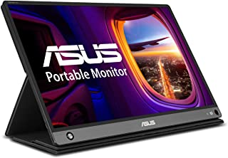 "Asus Zenscreen Go MB16AHP 15.6"" Full HD Portable Monitor IPS Non-Glare Built-in Battery and Speaker Eye Care USB Type-C Micro HDMI W/Foldable Smart Case,Black"