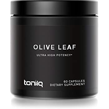 22x Potent Ultra High Strength Olive Leaf Capsules - 40% Oleuropein - 22,000mg Raw Powder Equivalent - The Strongest Olive Leaf Supplement Available