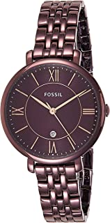 Fossil Womens Quartz Watch, Analog Display and Stainless Steel Strap ES4100
