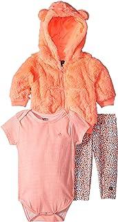 Limited Too Baby Girls Dots and Stripes Jacket, Bodysuit, Legging Set, Multi Color