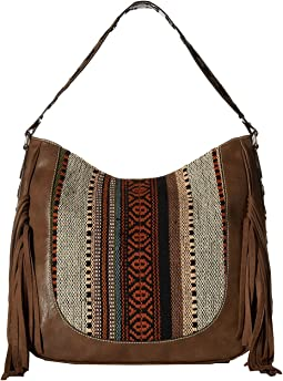 Saddle Blanket Fringe Large Shoulder Bag