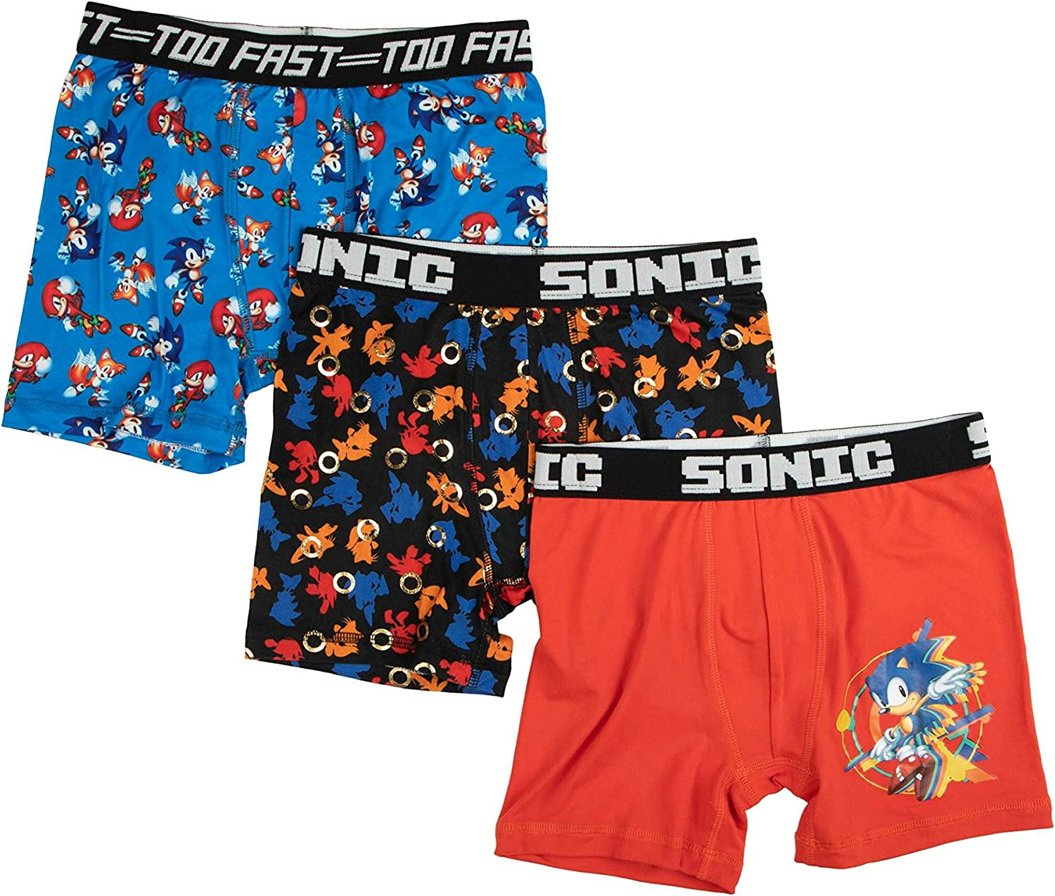 Boy's Character Moisture Wicking 3-Pack Poly Boxer Brief Underwear