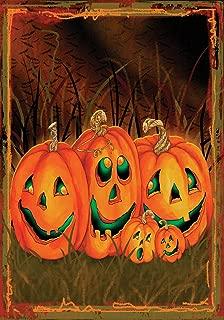 Toland Home Garden Jack O Lantern Night 12.5 x 18 Inch Decorative Spooky Halloween Pumpkin Garden Flag