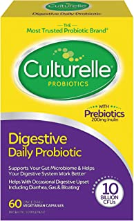 Culturelle Daily Probiotic, Digestive Health Capsules, Works Naturally with Your Body to..