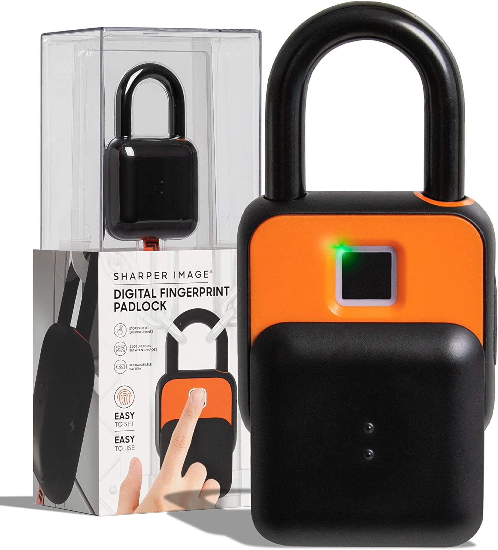 SHARPER IMAGE Fingerscan Digital Biometric Keyless Padlock Code 訳あり品送料無料 アイテム勢ぞろい