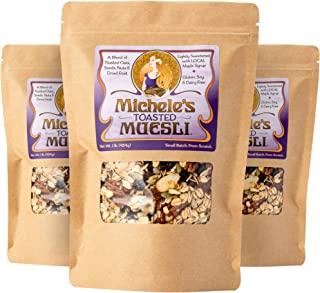 Michele's Granola Muesli, Toasted Muesli Cereal, 16 Oz Package, Pack of 3, Gluten-Free, No Refined Sugar & Non GMO Project...