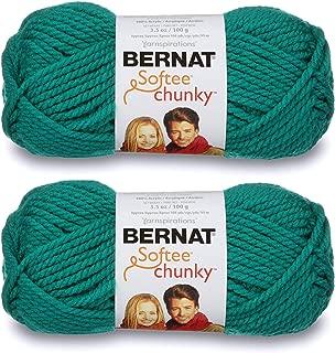 2-Pack - Bernat Softee Chunky Yarn, Emerald, Single Ball