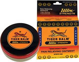 Tiger Balm Ultra Strength Pain Relieving Ointment, 0.63 Ounce