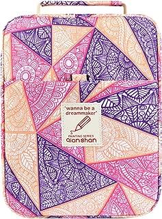 202 Colored Pencils Pencil Case - 136 Color Gel Pens Pen Bag or Marker Organizer - Universal Artist Use Supply Zippered Large Capacity Slot Super Big Professional Storage qianshan Mandala-Purple