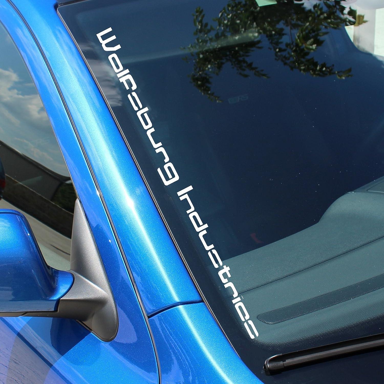 Finest Folia Fs74 Frontscheibenaufkleber Wolfsburg Industries V2 Weiß Glanz Außenklebend Auto