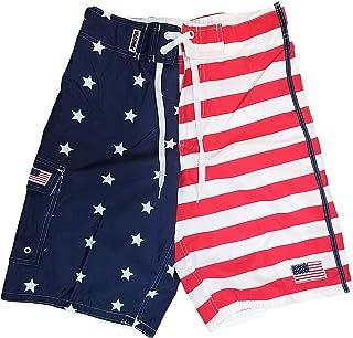 d751901d9e Exist American Flag Shorts Men - Bathing Suit American Flag Swim Trunks Men
