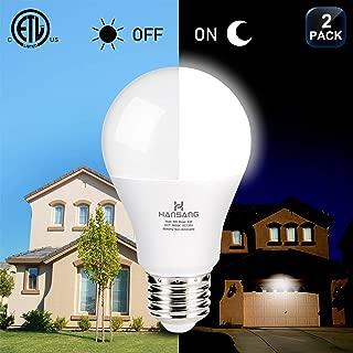 Dusk to Dawn Light Bulb,Hansang A19 LED Bulb Shape,E26 Base Sensor Porch Light Bulbs,5000K Daylight,9W (60W Equivalent) Outdoor Light Bulbs,Porch Lights with Dusk to Dawn Sensor,750LM,2 Pack