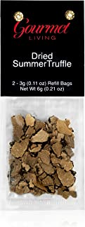 Gourmet Living Dried Truffle Refills for Gourmet Living Truffle Mill | Two 3-gram refills of dehydrated scorzone truffles
