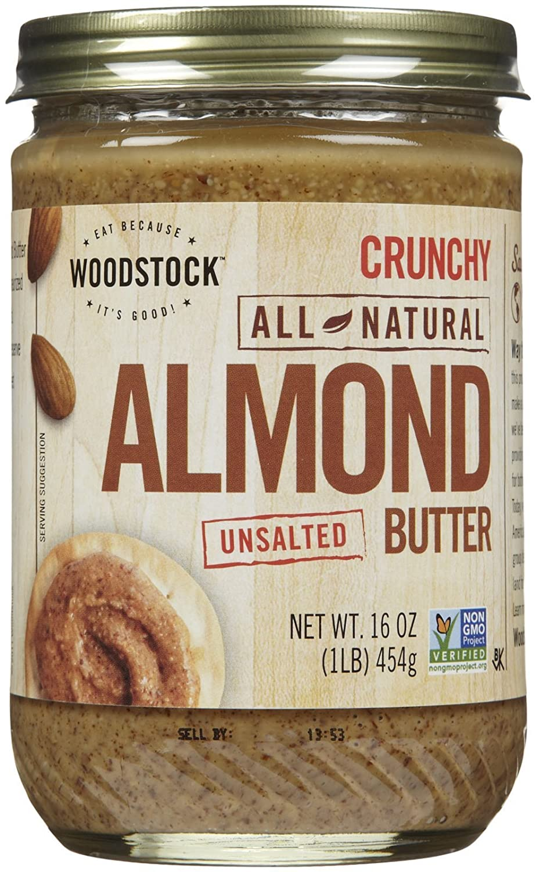 Woodstock Crunchy Almond Butter Regular online shopping discount oz Salt 16 No