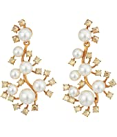 Oscar de la Renta - Scattered Pearl and Crystal P Earrings