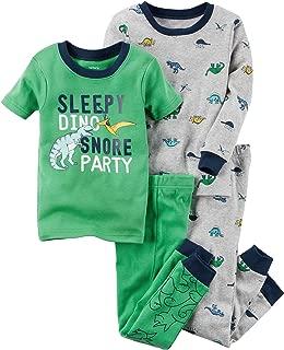 Carter's Boys' 12M-8 4 Piece Dinosaur Print Pajama Set