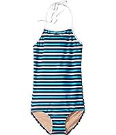 Toobydoo - Multi Blue Stripe One-Piece (Infant/Toddler/Little Kids/Big Kids)