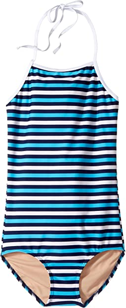 Multi Blue Stripe One-Piece (Infant/Toddler/Little Kids/Big Kids)