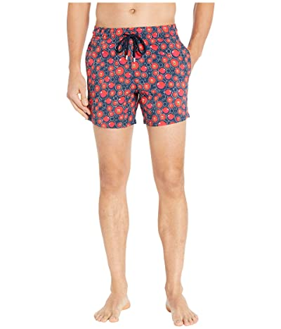 Vilebrequin Christmas Crackers Moorise Swim Trunks (Blue Marine) Men