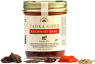 Tadka Ghee - Kashmiri Saal , Flavored Ghee by The Ghee Co, Seasoned with real spices, Grass-Fed Ghee, 8 ounces, No Salt. No Preservatives. Lactose Free.