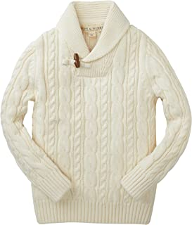 Boys' Long Sleeve Shawl Collar Sweater