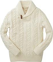 Hope & Henry Boys' Long Sleeve Shawl Collar Sweater