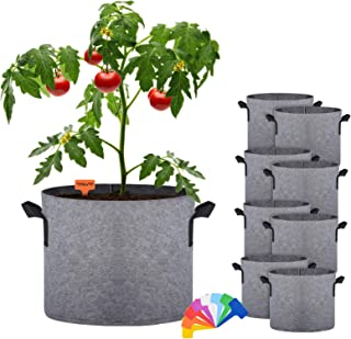 Xcellent Global Plant Grow Bags, 5 Gallon Gardening Plant Containers Bags, Breathable Non-Woven Fabric Planter Bags with H...