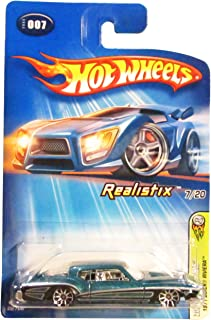 Mattel Hot Wheels 2005 1:64 Scale Blue 1971 Buick Riviera Die Cast Car #007