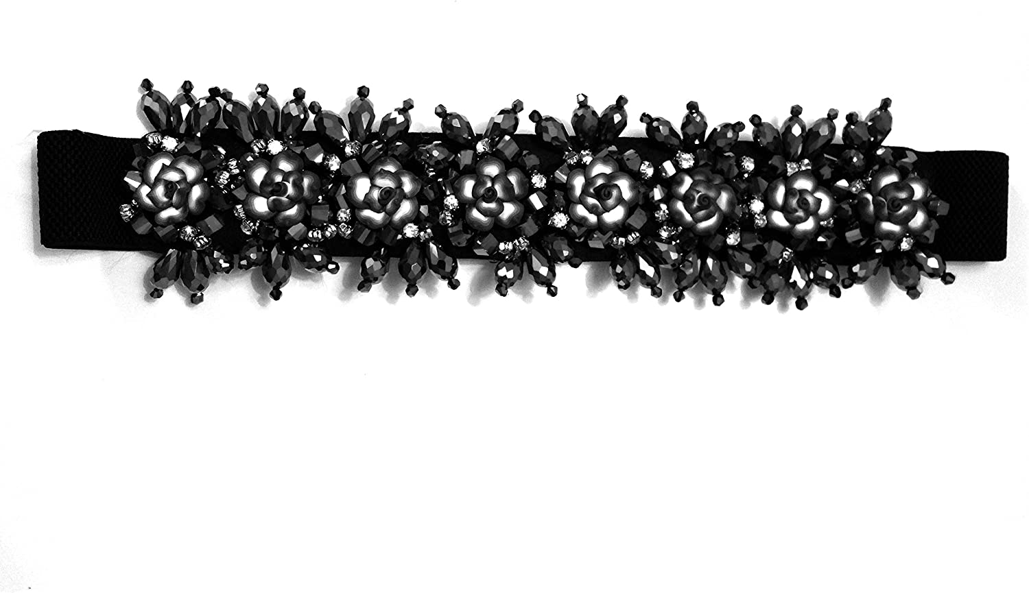 Amour Bows gembletblk Gem Belt, Black