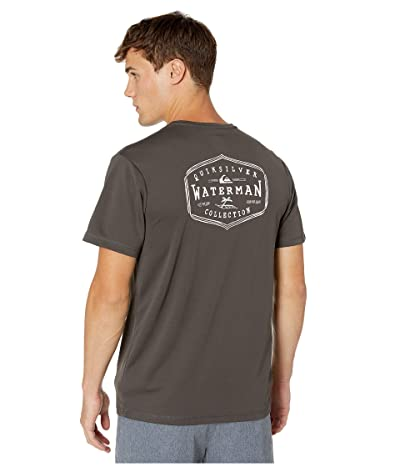 Quiksilver Waterman Gut Check Short Sleeve UPF Surf Tee (Raven) Men