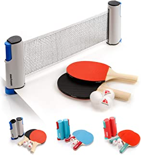 Set Ping Pong 1 Red 2 Raquetas 2 Pelotas Neto para Tenis de