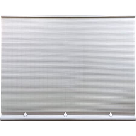 """Radiance Cord Free 1/4 Inch Oval PVC Shade, White, 60 Inches x 72 Inches Roll Up Blind, 60"""" W x 72"""" L"""