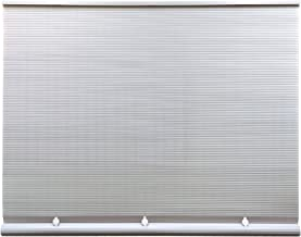 Lewis Hyman Cord Free 1/4 Inch Oval PVC Shade, White, x 72 Inches Roll Up Blind, 72 Inches x 72 Inches
