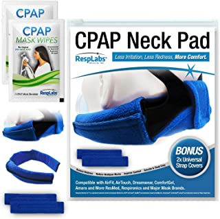 RespLabs CPAP Neck Pad - Reusable Comfort Fleece with 2 Universal CPAP Headgear Strap Covers