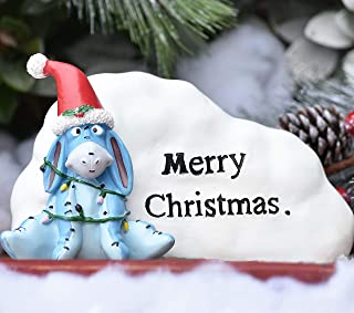 The Galway Company Disney Eeyore says Merry Christmas Garden Rock. Outdoor Garden Statue. Classic Winnie-The-Pooh Collection, 5 Inches Tall x 8 Inches Long, Hand-Painted, Official Disney Licensed Pr