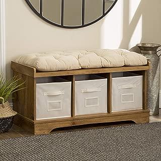 WE Furniture AZ42STCBW Storage Bench, 42