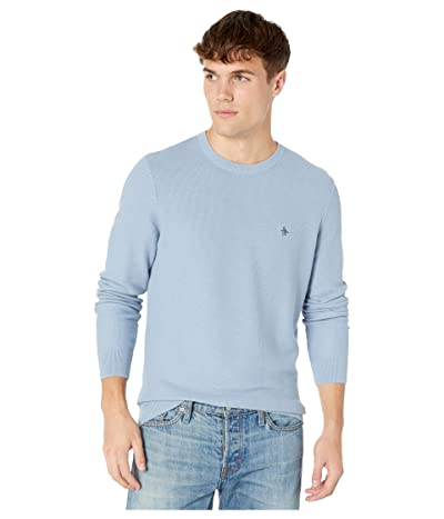 Original Penguin Long Sleeve Crew Neck Sweater (Faded Denim) Men