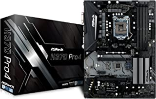 ASRock H370 Pro4 90-MXB6U0-A0UAYZ - Placa Base (Intel H370, S 1151, DDR4, SATA3, Dual M.2, 2-Way Crossfire), Color Negro