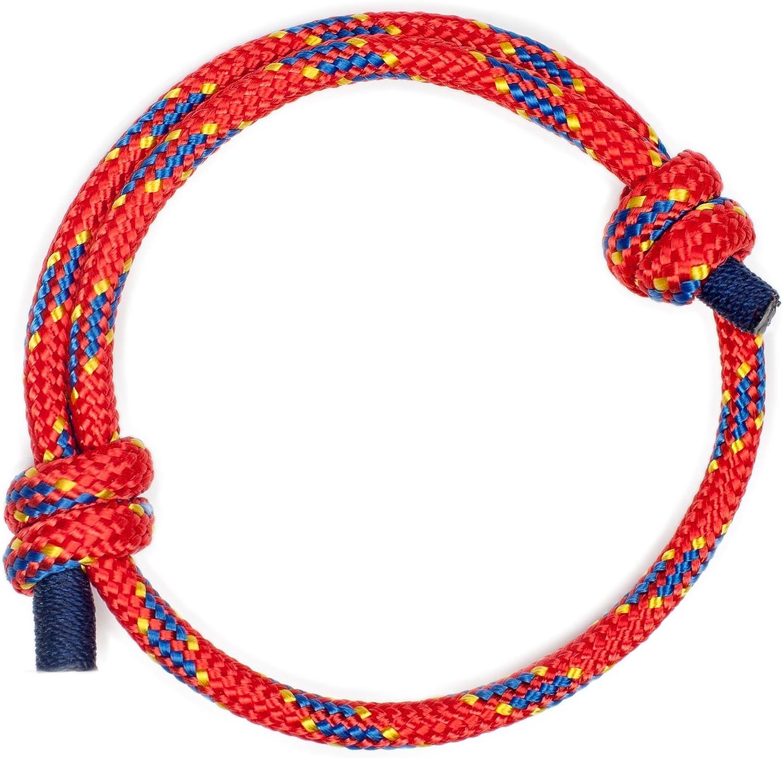 Wind Passion Pulsera Trenzada Náutica Elegante de Cuerda para Hombre