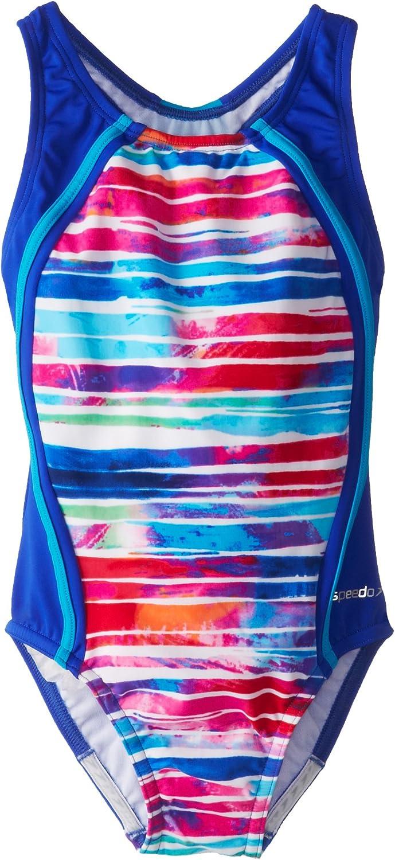 Speedo Big Girls' Stripe Remix Sport Max 49% OFF Piece Splice Max 89% OFF One Swimsuit