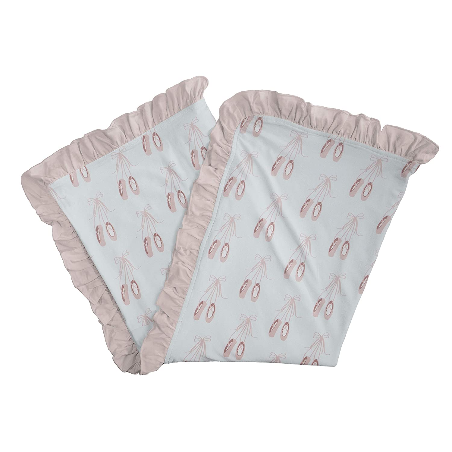 KicKee Pants Print Stroller Blanket Supreme Max 90% OFF Added Ruffles Deluxe with