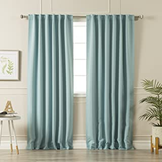 Best Home Fashion Thermal Insulated Blackout Curtains - Back Tab/Rod Pocket - 52