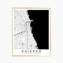 Chicago City Map - 16 x 20 in