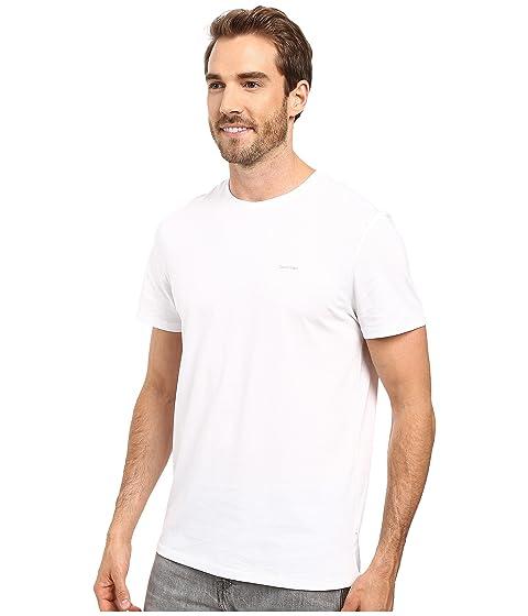 corta de blanca manga corta camiseta de algodón de manga Calvin Pima Klein zPEIqI