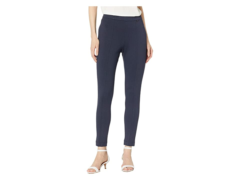 Anne Klein Check Pull-On Compression Pants (Gauguin/Anne Black) Women