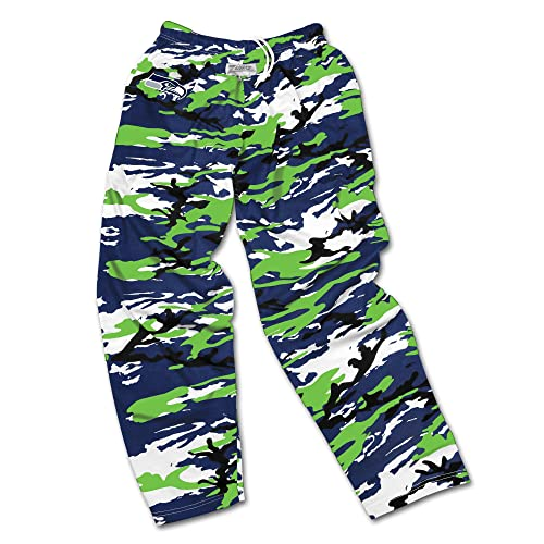 dfafce088f Zubaz Men s Officially Licensed NFL Camo Print Team Logo Casual Active Pants