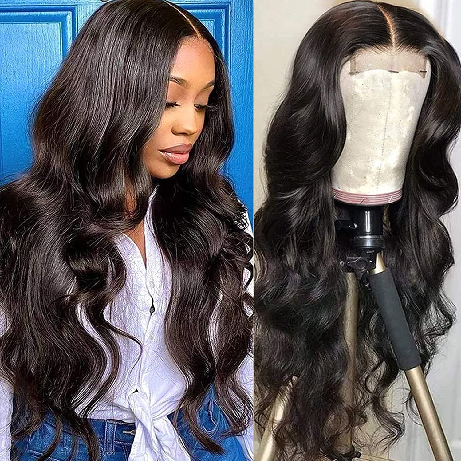 Max 56% OFF Ugrace Hair Human OFFicial store Lace front Black Body Wave Wigs for